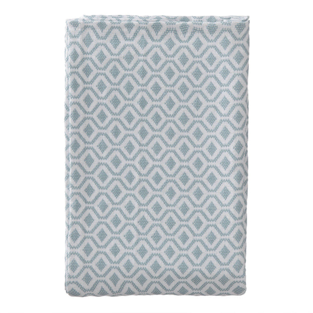 Viana bedspread, grey green & white, 100% cotton