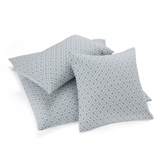 Viana cushion cover, grey green & white, 100% cotton | URBANARA cushion covers