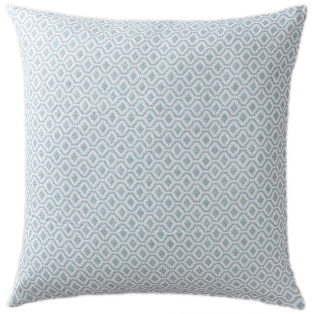 Viana cushion cover, grey green & white, 100% cotton
