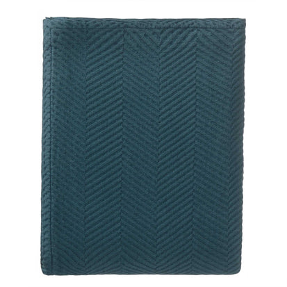 Lixa bedspread, teal, 100% cotton