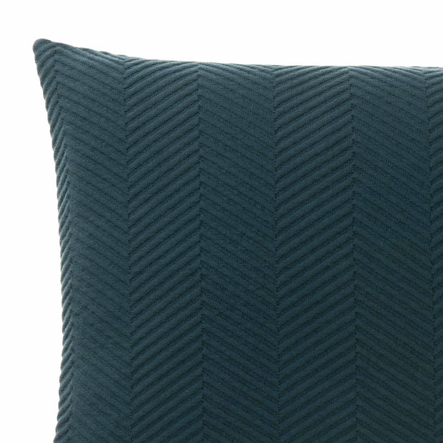 Lixa cushion cover, teal, 100% cotton | URBANARA cushion covers