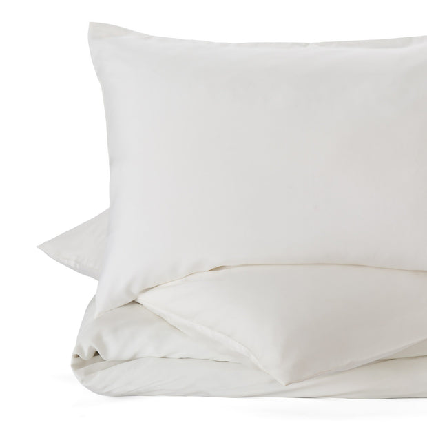 Lucca duvet cover, off-white, 100% silk