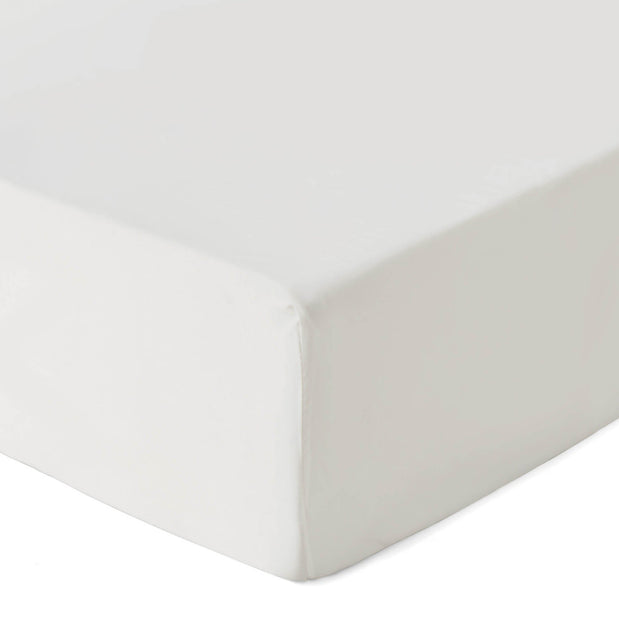 Lucca fitted sheet, off-white, 100% silk