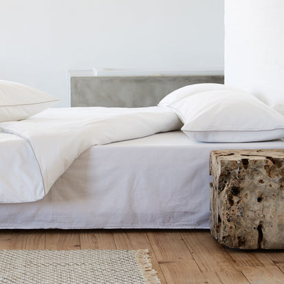 Tercia Bed Linen in white & charcoal | Home & Living inspiration | URBANARA