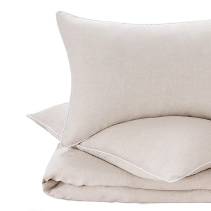 Tercia duvet cover, natural & white, 100% linen