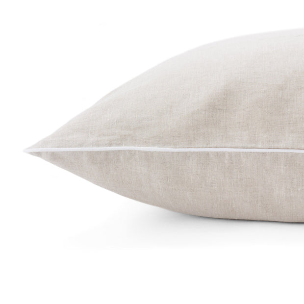 Tercia pillowcase, natural & white, 100% linen | URBANARA linen bedding