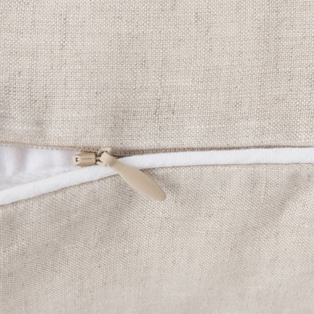 Tercia pillowcase in natural & white, 100% linen |Find the perfect linen bedding
