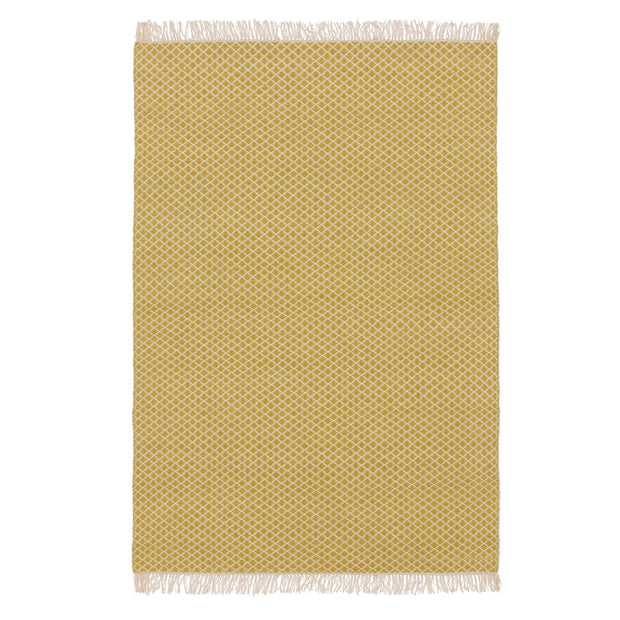 Loni rug, light yellow & off-white, 100% wool |High quality homewares