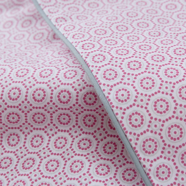 Cheles duvet cover, white & raspberry & green grey, 100% cotton |High quality homewares
