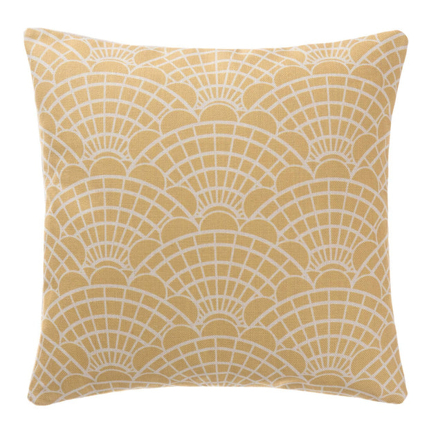Lune cushion cover, mustard & natural, 100% linen