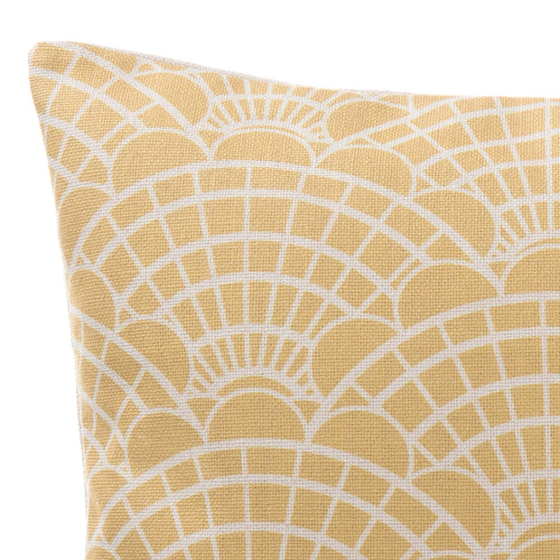 Lune cushion cover, mustard & natural, 100% linen | URBANARA cushion covers