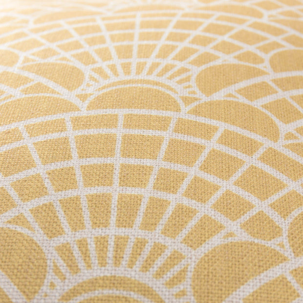 Lune cushion cover, mustard & natural, 100% linen |High quality homewares