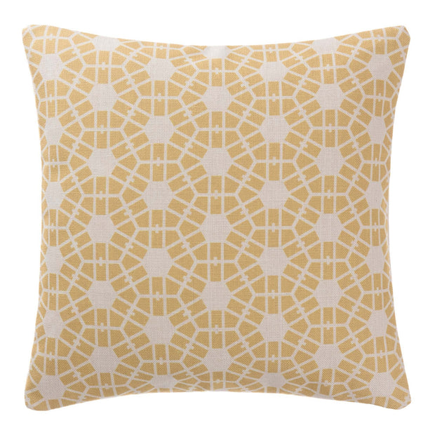 Selsey cushion cover, mustard & natural, 100% linen