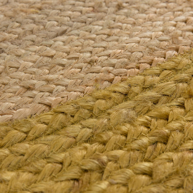 Nandi rug, natural & mustard, 100% jute |High quality homewares