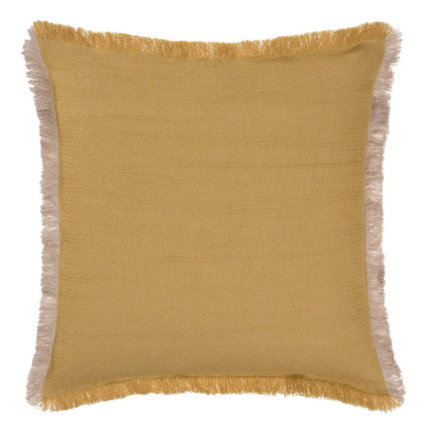 Alkas blanket in ochre & stone grey, 50% linen & 50% cotton |Find the perfect cotton blankets