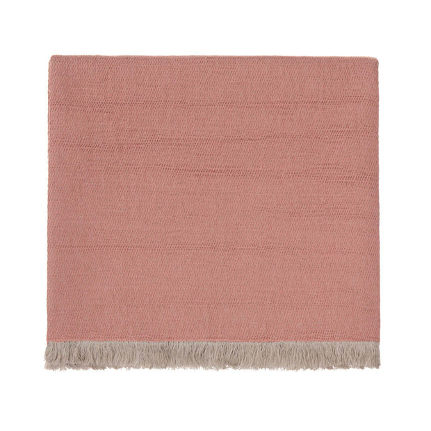 Alkas blanket, dusty pink & stone grey, 50% linen & 50% cotton