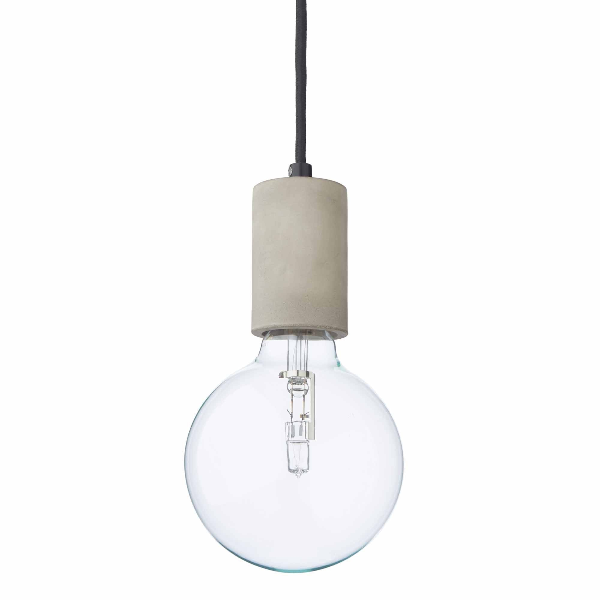 Salby pendant lamp, light grey, 100% concrete