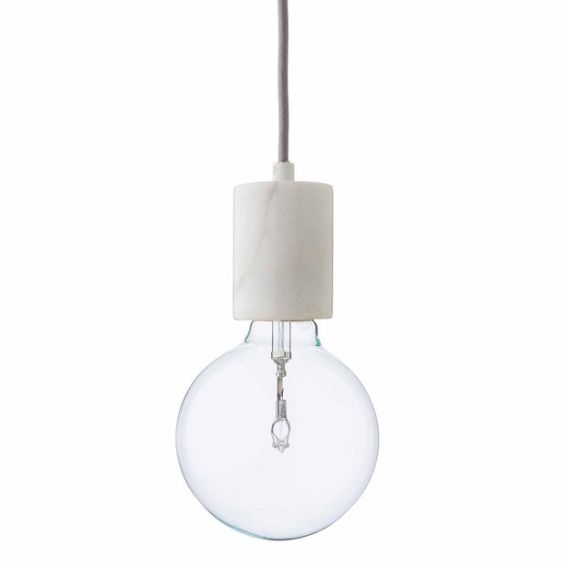 Salby pendant lamp, white, 100% marble
