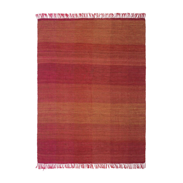 Birami blanket, red & orange & mustard, 60% linen & 40% silk | URBANARA silk blankets