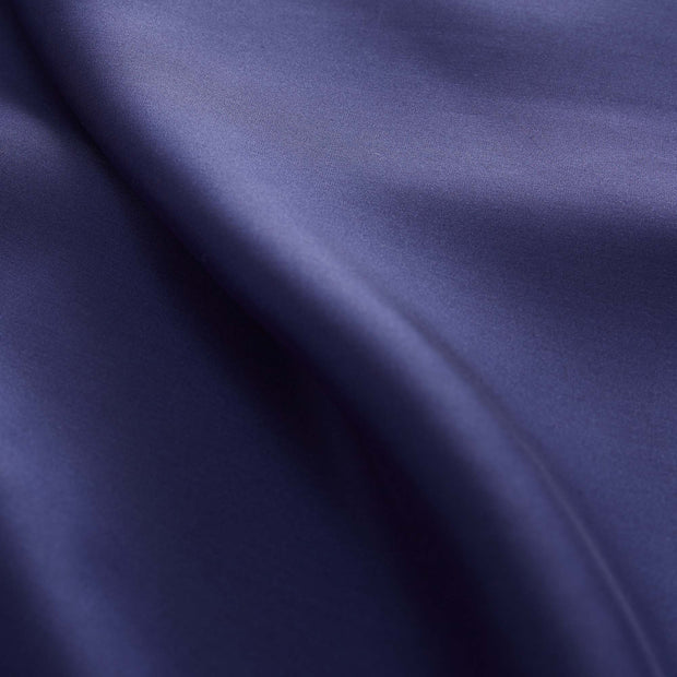 Lucca duvet cover, dark blue, 100% silk | URBANARA silk bedding