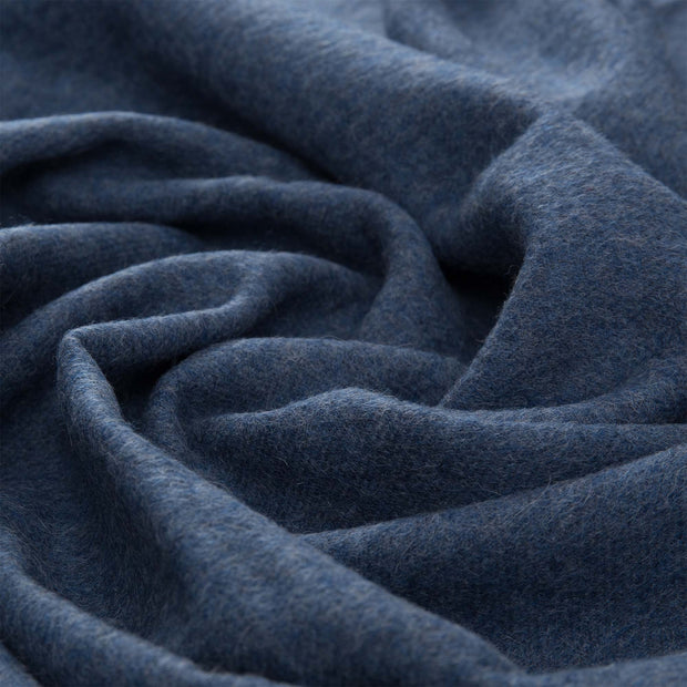 Arica blanket, denim blue, 100% baby alpaca wool |High quality homewares