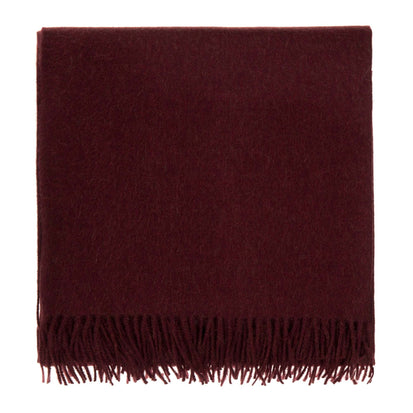 Arica Alpaca Blanket bordeaux red, 100% baby alpaca wool