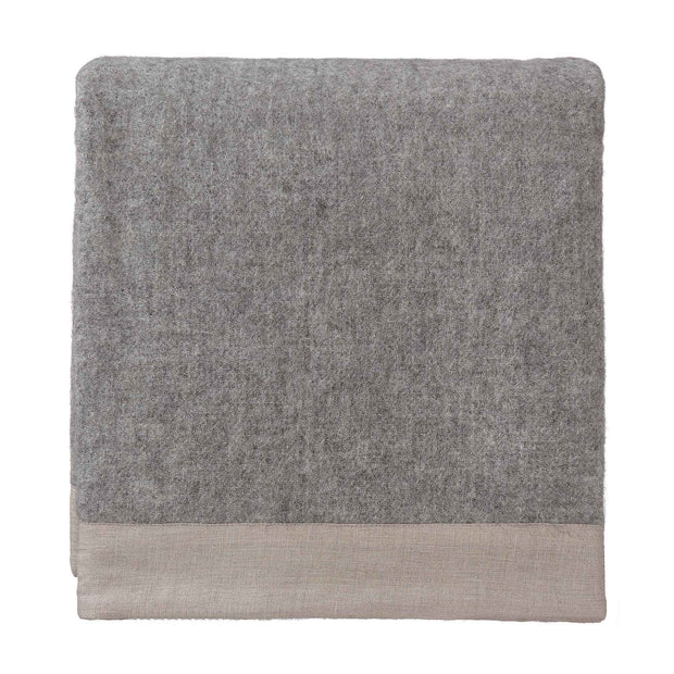 Fyn Wool Blanket grey & natural, 100% new wool & 100% linen
