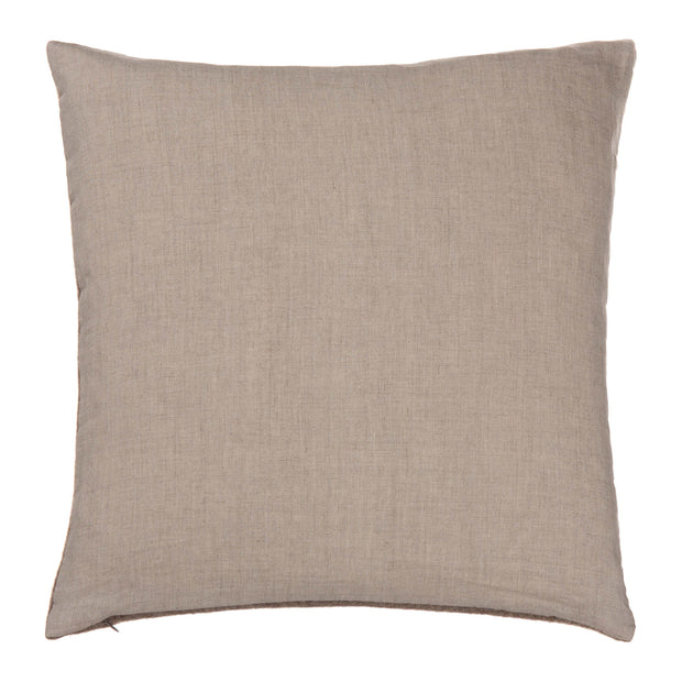 Fyn Cushion Cover grey & natural, 95% new wool & 5% linen | URBANARA cushion covers
