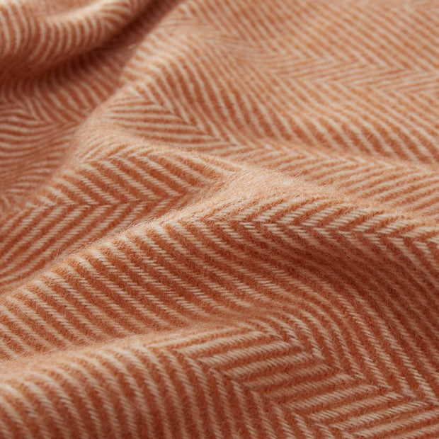 Salantai blanket, terracotta & cream, 100% new wool |High quality homewares