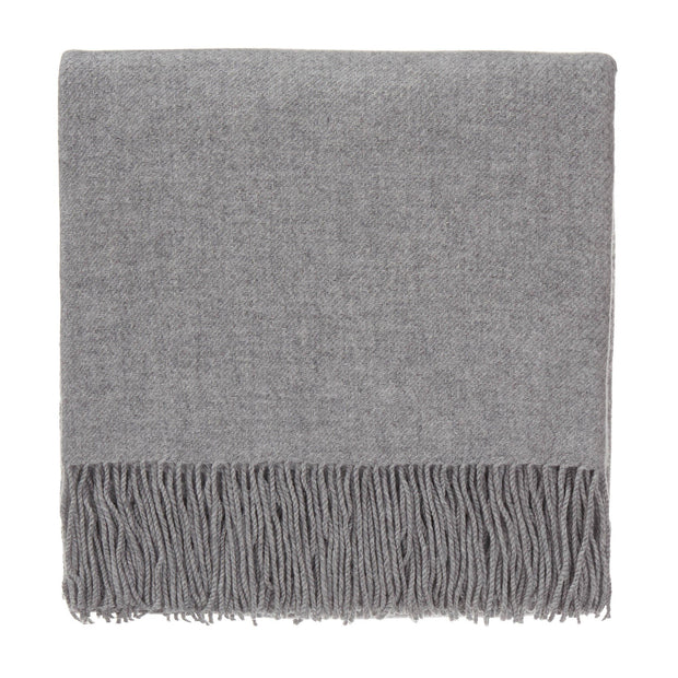 Almora blanket, light grey, 50% cashmere wool & 50% wool
