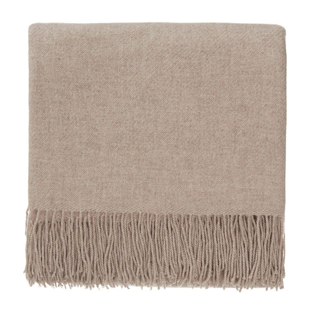 Almora blanket, sand, 50% cashmere wool