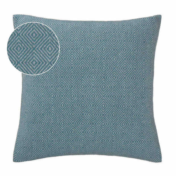 Uyuni cushion cover, green grey & light grey, 100% cashmere wool