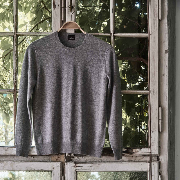 Nora jumper, light grey, 50% cashmere wool & 50% wool |High quality homewares