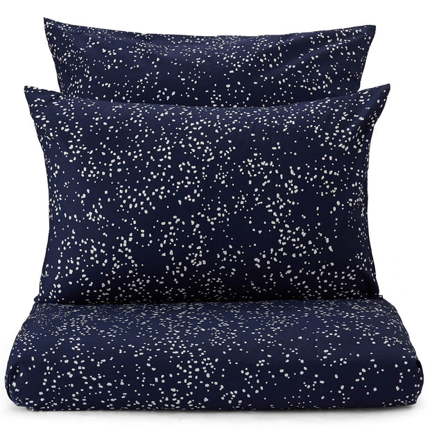 Connemara pillowcase, dark blue & white, 100% cotton