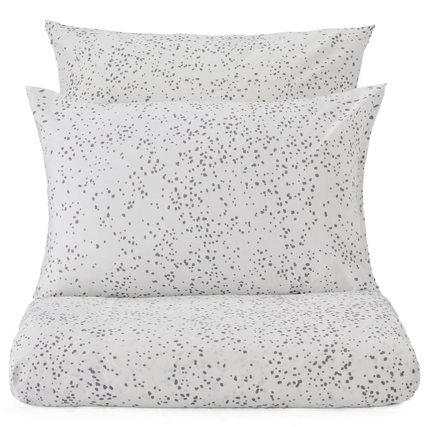 Connemara duvet cover, white & grey, 100% cotton