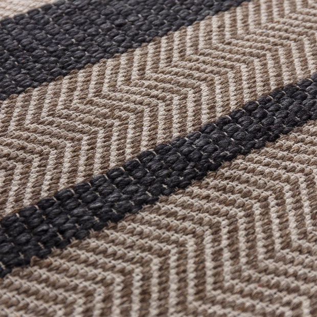 Alto rug, charcoal & beige & light brown, 35% wool & 35% cotton & 30% viscose |High quality homewares