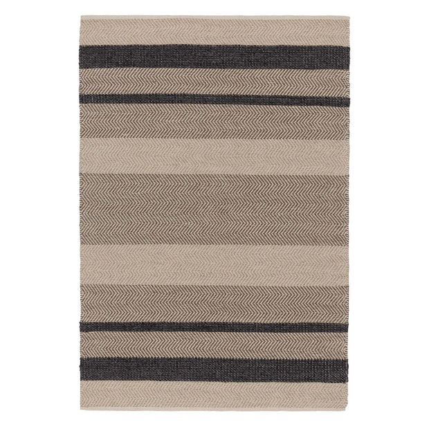 Alto rug, charcoal & beige & light brown, 35% wool & 35% cotton & 30% viscose | URBANARA wool rugs