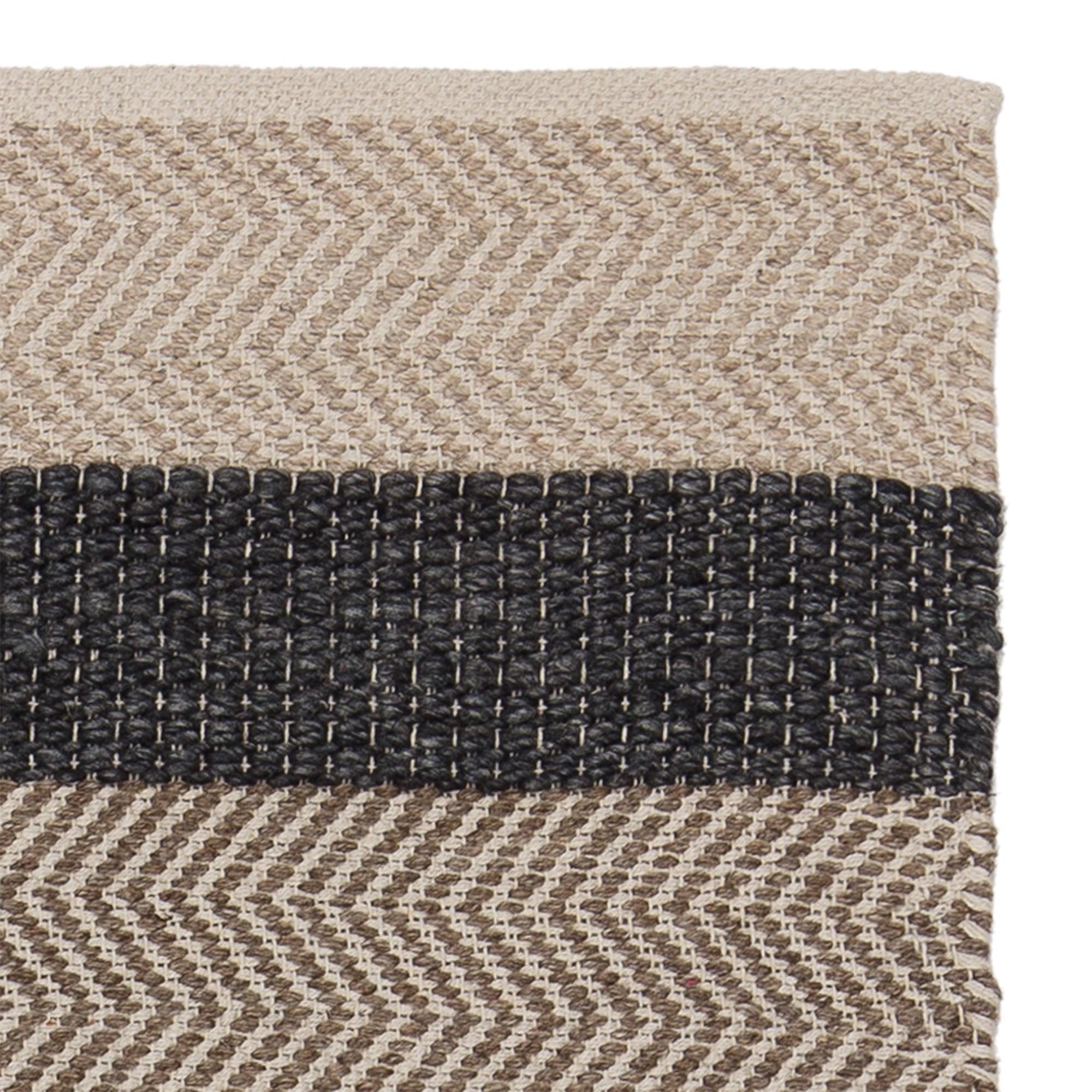 Alto rug, charcoal & beige & light brown, 35% wool & 35% cotton & 30% viscose