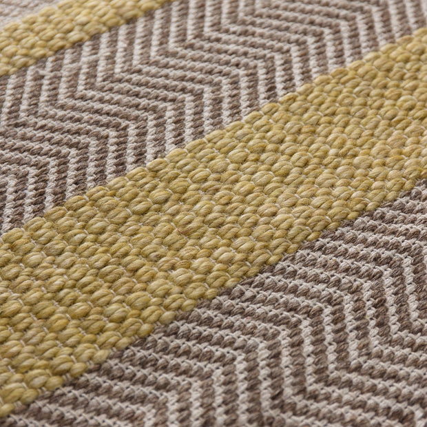 Alto rug in ochre & beige & light brown, 35% wool & 35% cotton & 30% viscose |Find the perfect wool rugs