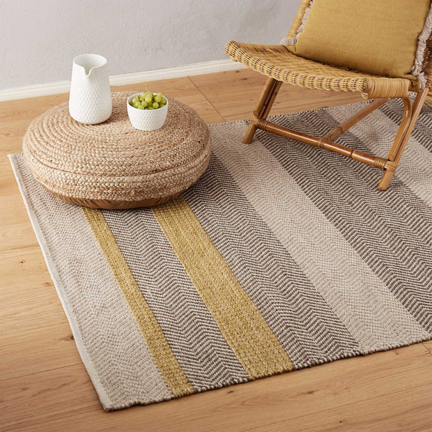 Ochre & Beige & Light brown Alto Teppich | Home & Living inspiration | URBANARA