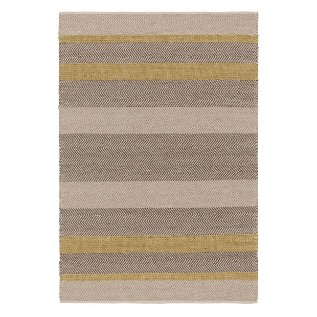Alto rug, ochre & beige & light brown, 35% wool & 35% cotton & 30% viscose | URBANARA wool rugs