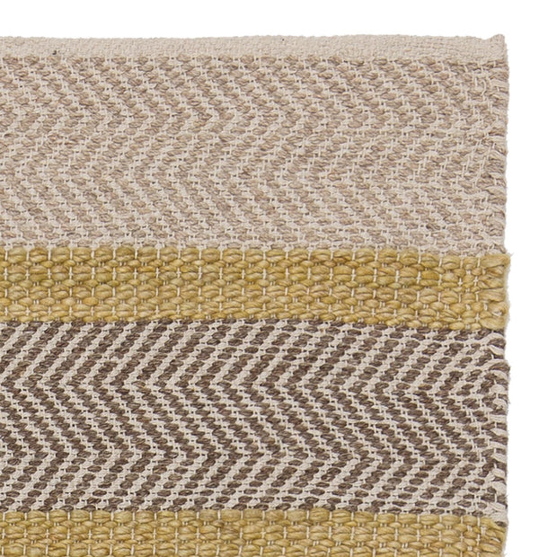 Alto rug, ochre & beige & light brown, 35% wool & 35% cotton & 30% viscose