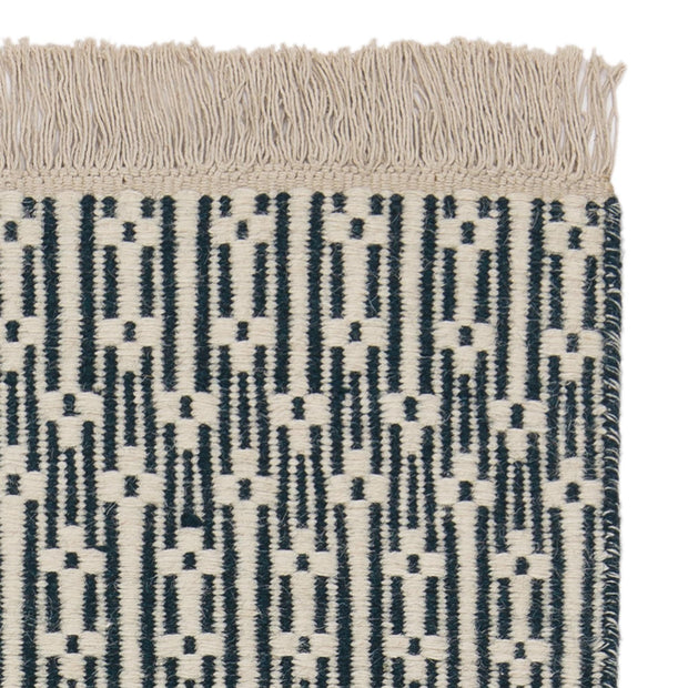 Lumaco rug, teal & off-white, 100% wool