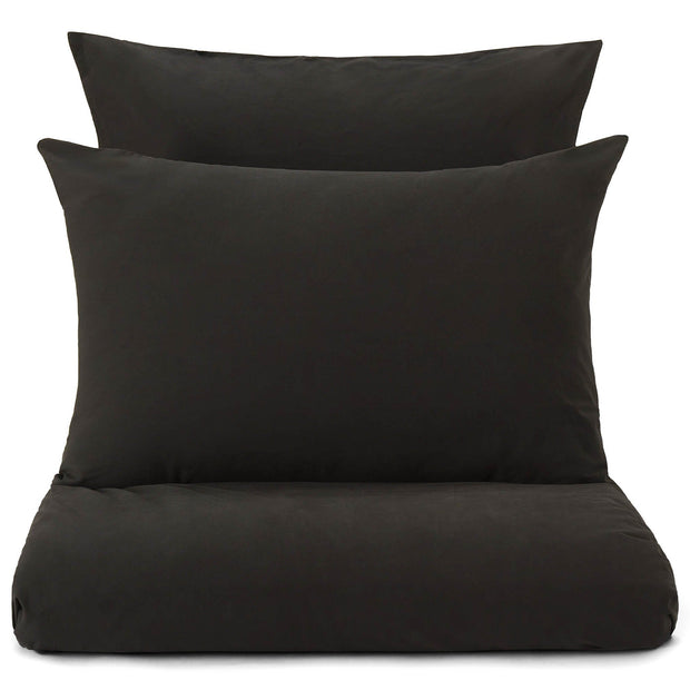 Perpignan pillowcase, black, 100% combed cotton