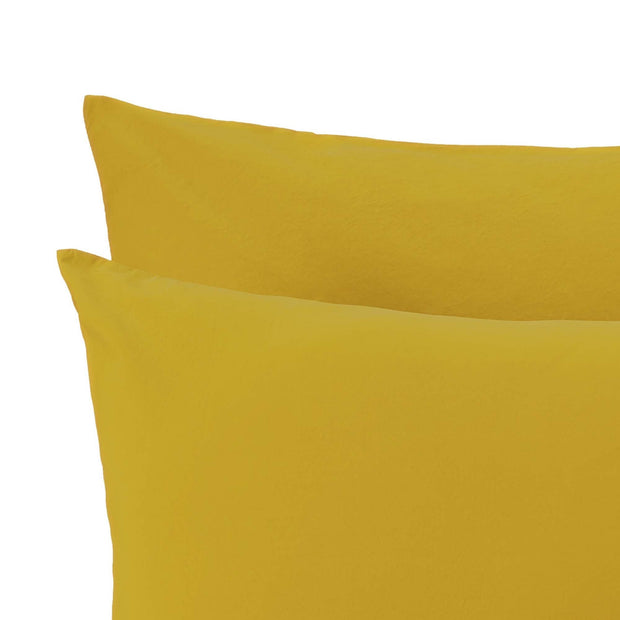 Perpignan duvet cover, mustard, 100% combed cotton | URBANARA percale bedding