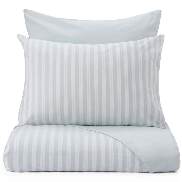 Izeda pillowcase, green & white, 100% cotton