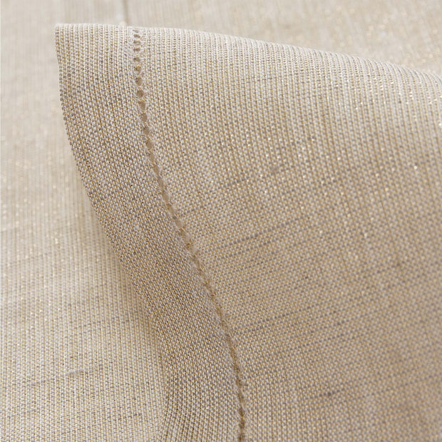 Cavaillon table runner, gold & natural, 87% linen & 13% lurex | URBANARA christmas decoration