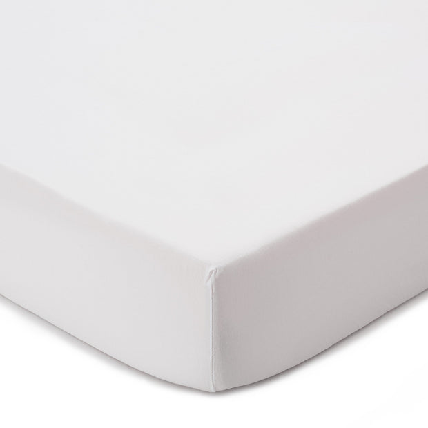 Luz fitted sheet, white, 100% cotton