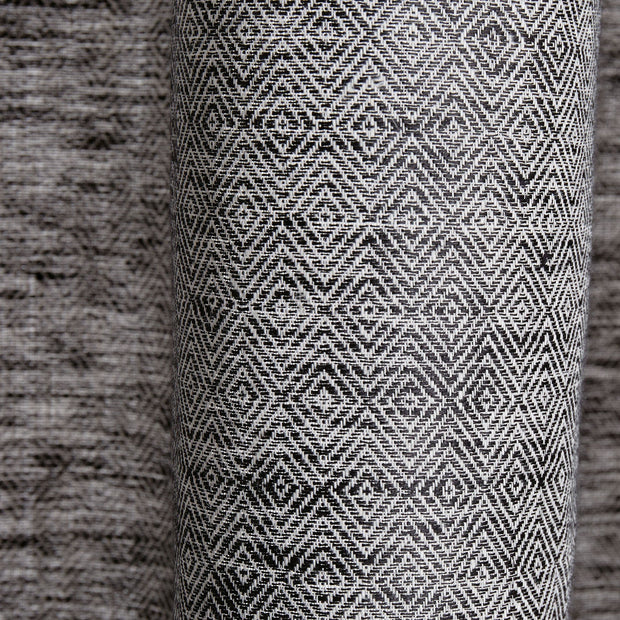 Zarasai curtain, black & white, 100% linen | URBANARA curtains