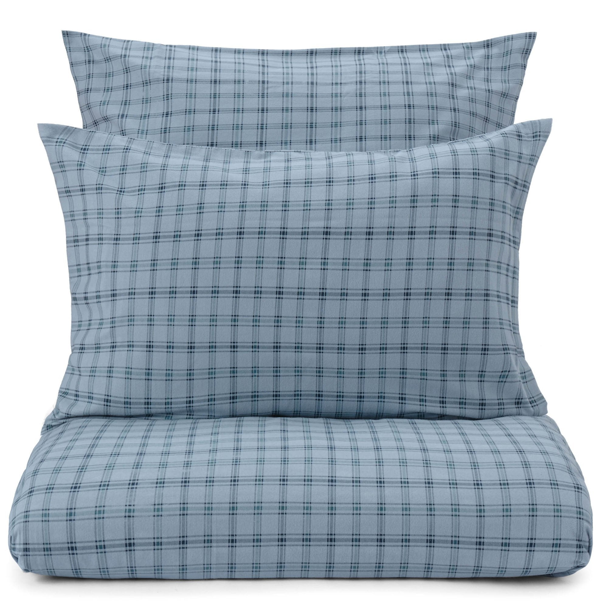 Kotja duvet cover, light blue & teal & dark blue, 100% cotton